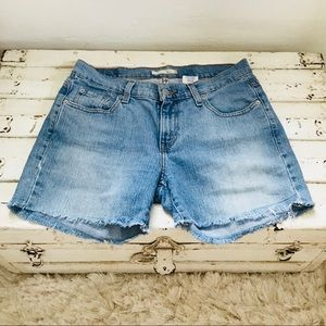Levi's Light Wash Broken In Denim Shorts